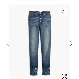Madewell slim straight button front edition
